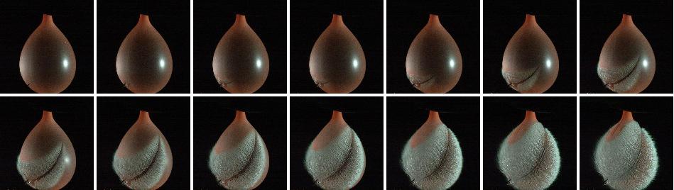 高速度撮影による現象の可視化例 水風船
